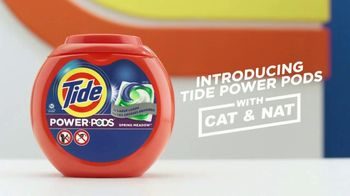 Tide Power Pods TV Spot, 'Large Laundry Loads with Cat & Nat'
