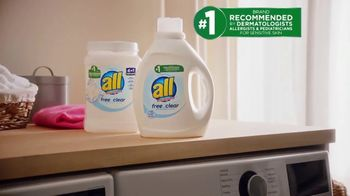 All Laundry Detergent TV Spot, 'Piel sensible' [Spanish] - Thumbnail 5