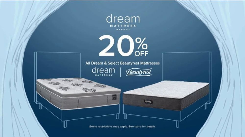 American Signature Furniture Dream Mattress Studio TV Commercial, 'Mattress Doorbusters: 20 Percent'