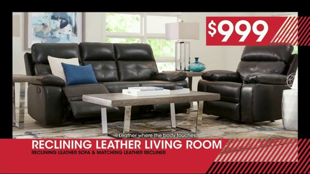Rooms To Go January Clearance Sale Tv Commercial Reclining Leather Living Room 999 Ispot Tv