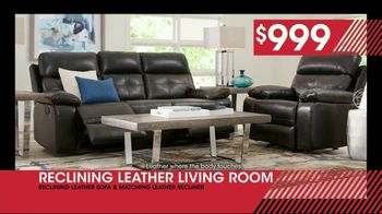 Rooms to Go January Clearance Sale TV Spot, \'Reclining Leather Living Room: $999\'