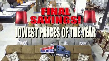 American Freight Lowest Prices of the Year TV Spot, 'Final Savings'