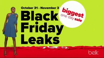 Belk Biggest One Day Sale TV Spot, 'Black Friday Leaks: Christmas Trees, Sleepwear and Bedding'