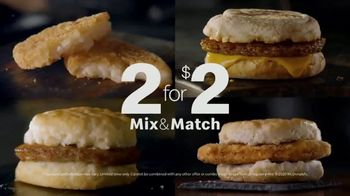 McDonald's Mix & Match 2 for $2 TV Spot, 'Breakfast Favorites'