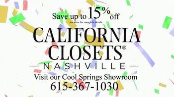 California Closets New Year's Offer TV Spot, 'Any Room' - Thumbnail 10