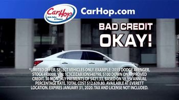 CarHop Auto Sales & Finance TV Spot, 'Get Approved With $100 Down'