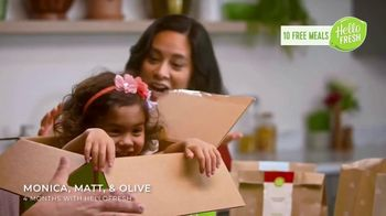 HelloFresh TV Spot, 'Monica, Matt and Olive: 10 Free Meals' - Thumbnail 2