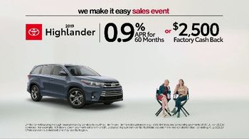 Toyota We Make It Easy Sales Event TV Spot, 'Floating' [T2] - Thumbnail 2