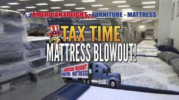 American Freight Tax Time Mattress Blowout TV Spot, 'Mattress Sets' - 2 commercial airings