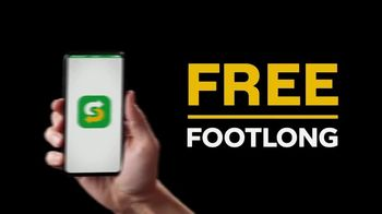 Subway App TV Spot, 'Buy One Footlong, Get One Free'