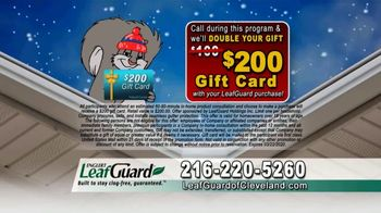 LeafGuard of Cleveland Winter Half Off Sale TV Spot, 'Costly Repairs: $25 Gas Card' - Thumbnail 9