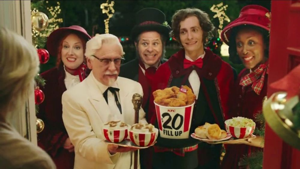 Kfc Christmas Commercial 2020 Cast KFC $20 Fill Up TV Commercial, 'Holidays: Carolers'   iSpot.tv