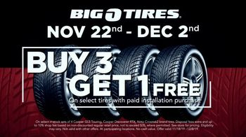 Big O Tires Big Black Friday Savings TV Spot, 'Buy Three, Get One Free: $190 Off'