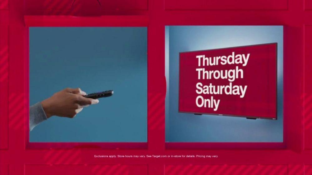 Target Tv Commercial Black Friday Doors Open Thursday