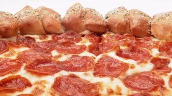 Pizza Hut Stuffed Garlic Knots Pizza TV Spot, 'That's the Stuff' - Thumbnail 6