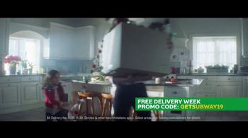 Subway Free Delivery Week TV Spot, 'Special Moments'