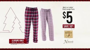 Bass Pro Shops Black Friday Sale TV Spot, 'Lounge Pants, Beanie Glove Combo and Binoculars'