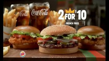Burger King 2 for $10 Meal Deal TV Spot, 'Two Fries and Two Drinks' - Thumbnail 3