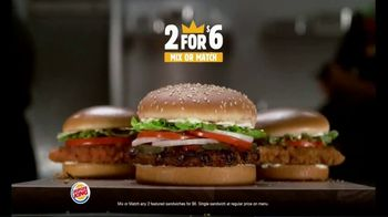Burger King 2 for $6 Mix or Match TV Spot, 'Two Fries and Two Drinks'