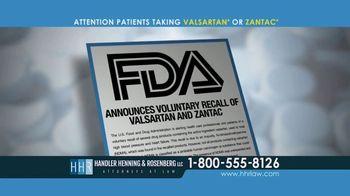 Handler Henning & Rosenberg LLP TV Spot, 'NDMA Contamination'