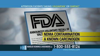 Handler Henning & Rosenberg LLP TV Spot, 'NDMA Contamination' - Thumbnail 3
