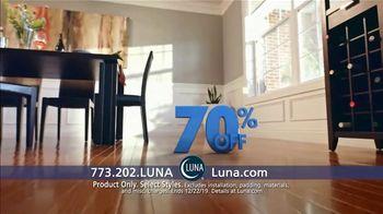 Luna Flooring 70 Percent Off Sale TV Spot, 'Floors You'll Love for Less'