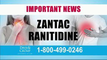 Davis & Crump, P.C. TV Spot, 'Zantac' - Thumbnail 1