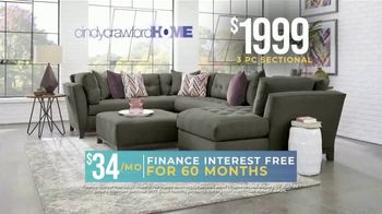 Rooms to Go Holiday Sale TV Spot, 'Right Now: Cindy Crawford Sectionals' - Thumbnail 4