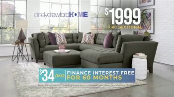 Rooms to Go Holiday Sale TV Spot, 'Right Now: Cindy Crawford Sectionals' - Thumbnail 5