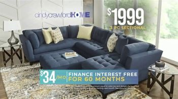 Rooms to Go Holiday Sale TV Spot, 'Right Now: Cindy Crawford Sectionals' - Thumbnail 6