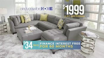 Rooms to Go Holiday Sale TV Spot, 'Right Now: Cindy Crawford Sectionals' - Thumbnail 7