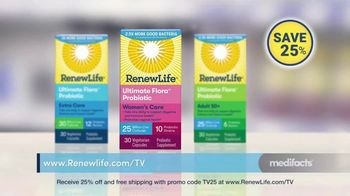 Renew Life Ultimate Flora Probiotic Women's Care TV Spot, 'Digestive Issues: 25 Percent Off' - Thumbnail 9