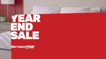 Mattress Firm Year End Sale TV Spot, 'Ends Tuesday: $600 Off and Free Adjustable Base'