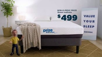 Bob's Discount Furniture Bob-O-Pedic Prize Mattress TV Spot, 'Value Your Sleep'