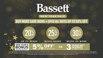 Bassett New Year Sale TV Spot, 'Special Buys: Aiden Sofas, Accent Chairs & Dining Sets' - Thumbnail 4