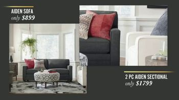 Bassett New Year Sale TV Spot, 'Special Buys: Aiden Sofas, Accent Chairs & Dining Sets' - Thumbnail 2