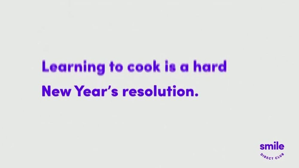Smile Direct Club TV Commercial, 'Resolution: Learning to Cook'