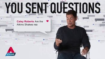 Atkins TV Spot, 'Questions: Chocolate Shake' Featuring Rob Lowe