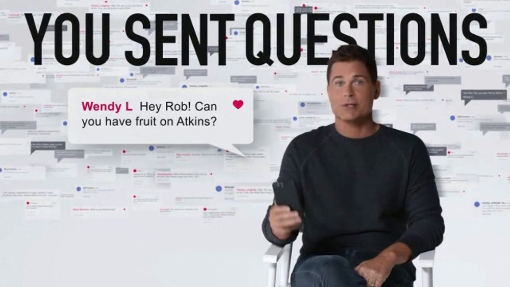 Atkins TV Commercial, 'Questions: Confusion' Featuring Rob Lowe