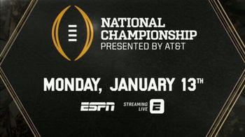 ESPN TV Spot, 'AT&T: Watch in 4K: College Football Championship' - Thumbnail 6