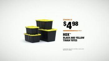 The Home Depot Store More Save More Event TV Spot, 'De-Clutter: HDX Tough Totes' - Thumbnail 7