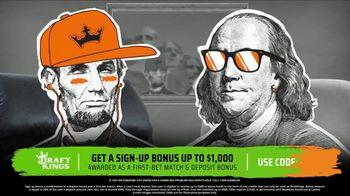 DraftKings Sportsbook TV Spot, 'Greenbacks: Sign Up Bonus' - 1 commercial airings
