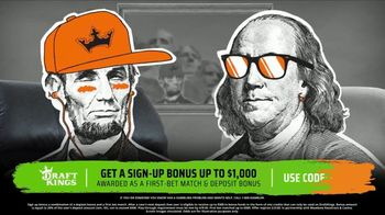 DraftKings TV Spot, 'Greenbacks: Sign Up Bonus' - 1 commercial airings