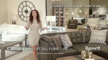 Bassett New Year Sale TV Spot, 'Discounts and Six Years No-Interest' - Thumbnail 2