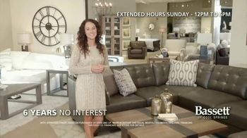 Bassett New Year Sale TV Spot, 'Discounts and Six Years No-Interest'