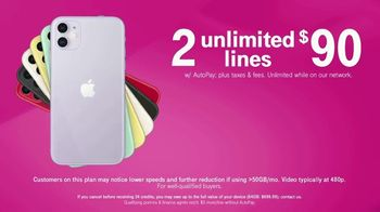 T-Mobile TV Spot, 'Seeing Double: Two for $90 Plus Two iPhones' - Thumbnail 3