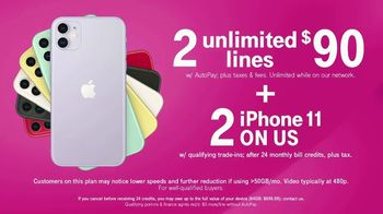 T-Mobile TV Spot, 'Seeing Double: Two for $90 Plus Two iPhones' - Thumbnail 4