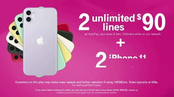 T-Mobile TV Spot, 'Seeing Double: Two for $90 Plus Two iPhones' - Thumbnail 8