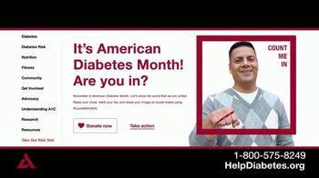 American Diabetes Association TV Spot, 'Life With Diabetes' - Thumbnail 7