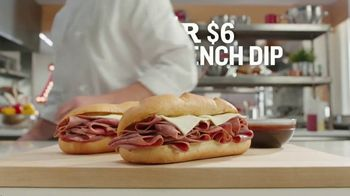 Arby's 2 for $6 Classic French Dip TV Spot, 'Dipping Beef Into More Beef' Song by YOGI - Thumbnail 5